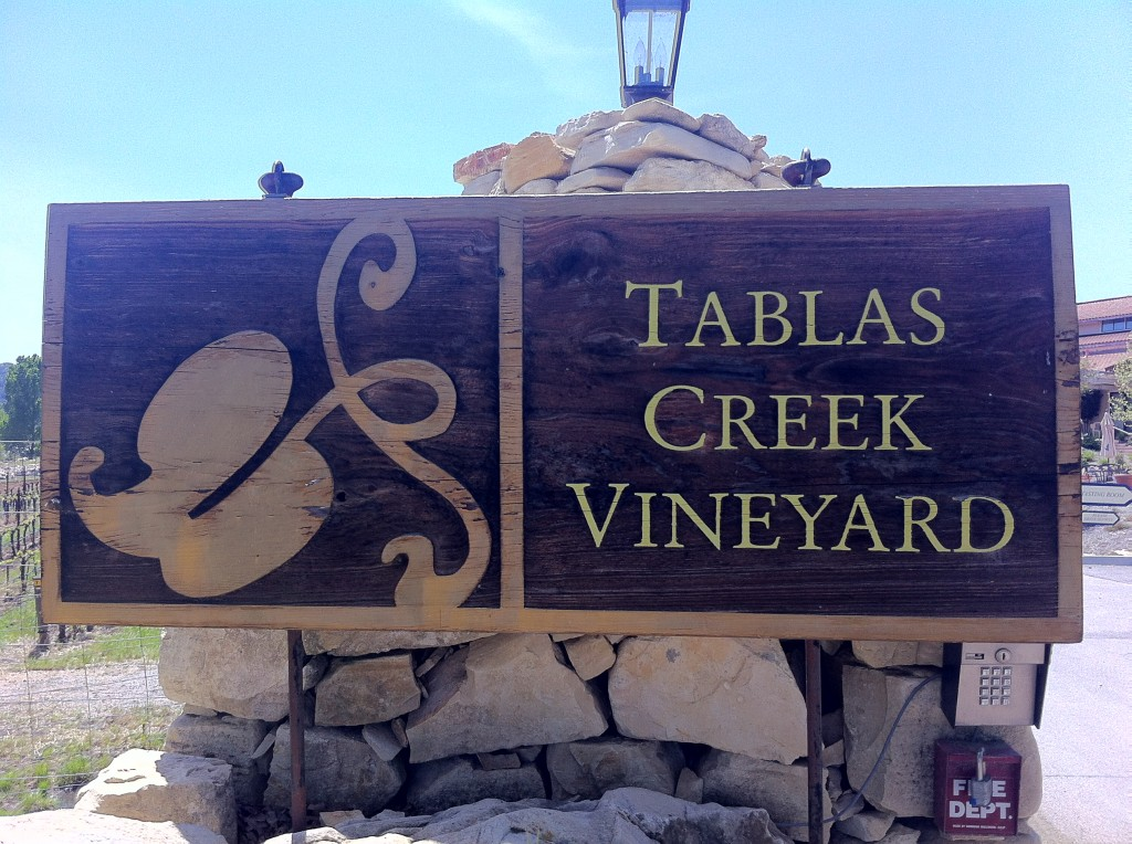 Tablas Creek Vineyard Sign