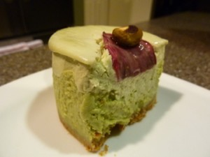 Pistachio Rose Cheesecake