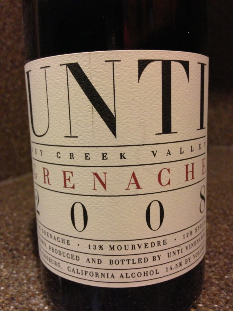 Wine of the Week: Unti Vineyards 2008 Grenache
