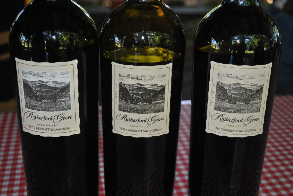 LIbrary tasting of Rutherford Grove Cabernet Sauvignon - 1997-1999