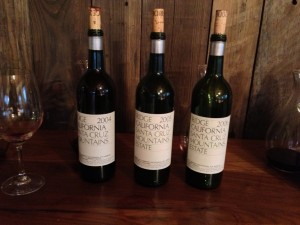 Ridge Blogger Tasting Vertical 3