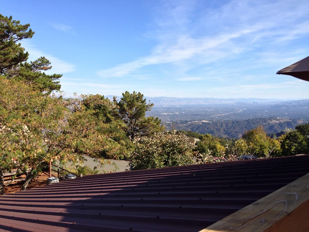 Panoramic view of the South Bay from Monte Bello suite