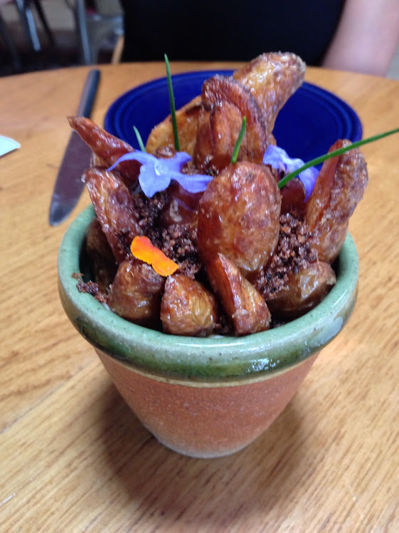 "Smoked Fingerling Potatoes - ""Potted"" with Chives"