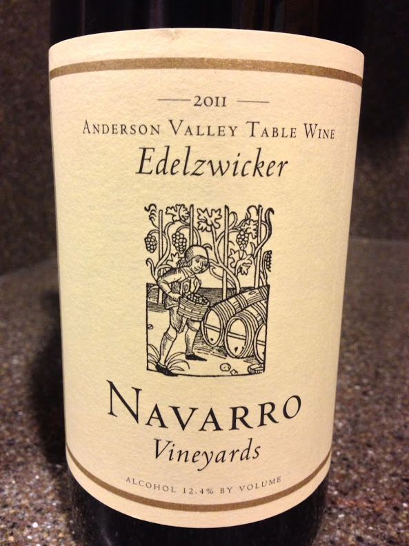 Wine of the Week; 2011 Navarro Vineyards Edelzwicker