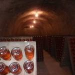 Schramsberg Vineyards Tour -Inside the caves; Bottles in storage