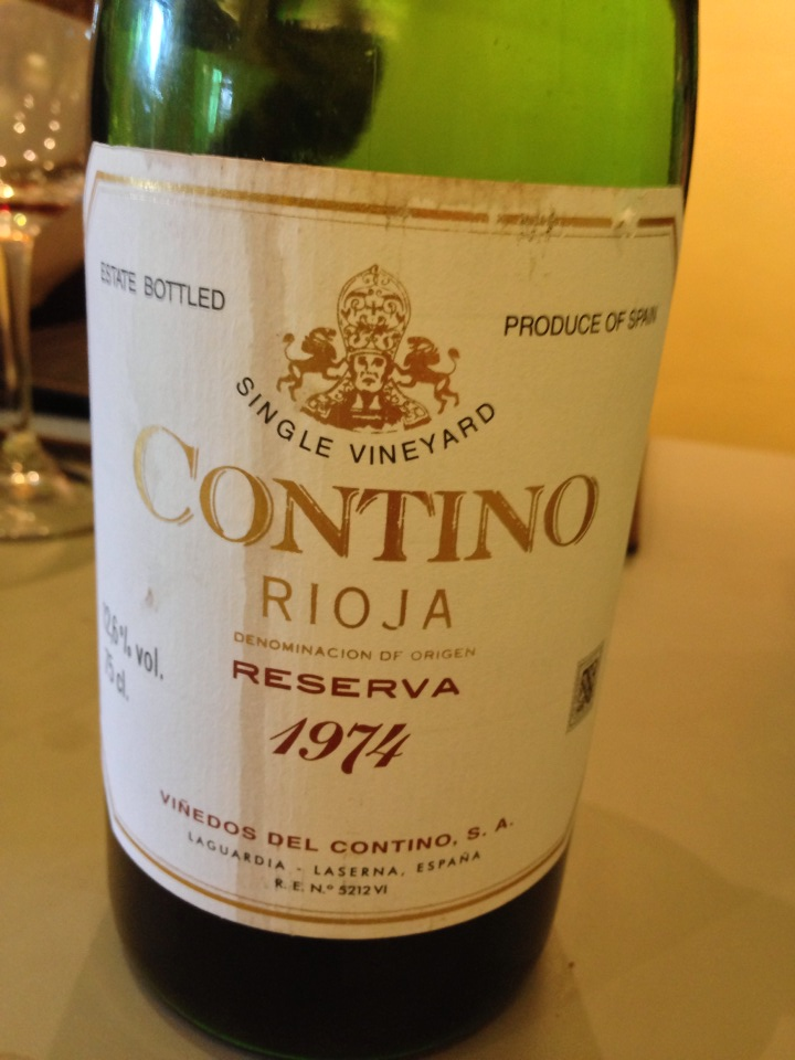 1974 Contino Reserva Rioja