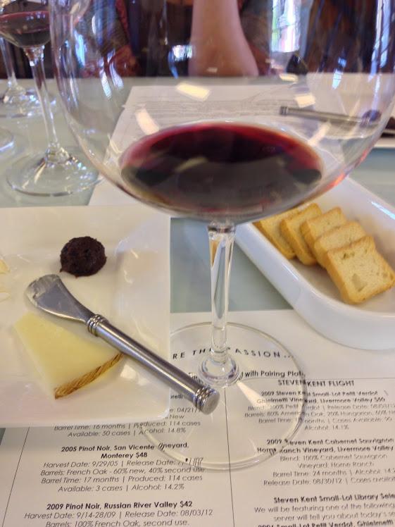 La Rochelle Glass of Wine Menu and Cheese