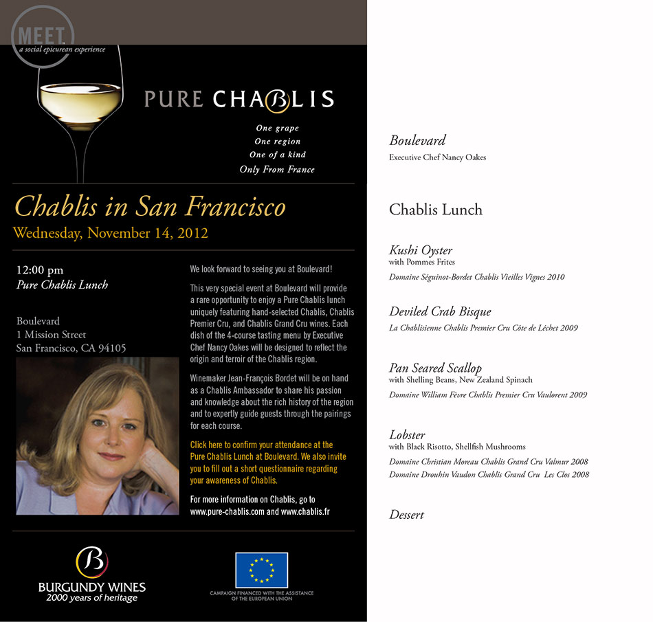 Pure Chablis Lunch at Boulevard - San Francisco