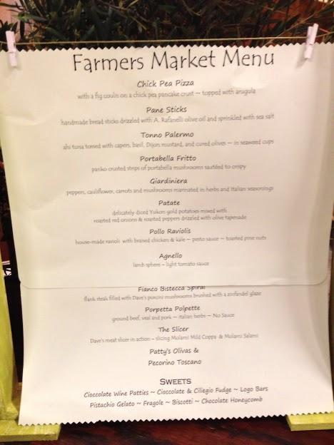 ARafanelli menu