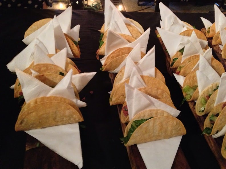 Smoked Duck Tacos.  They were paired with 2011 Charlie Clay Pinot Noir