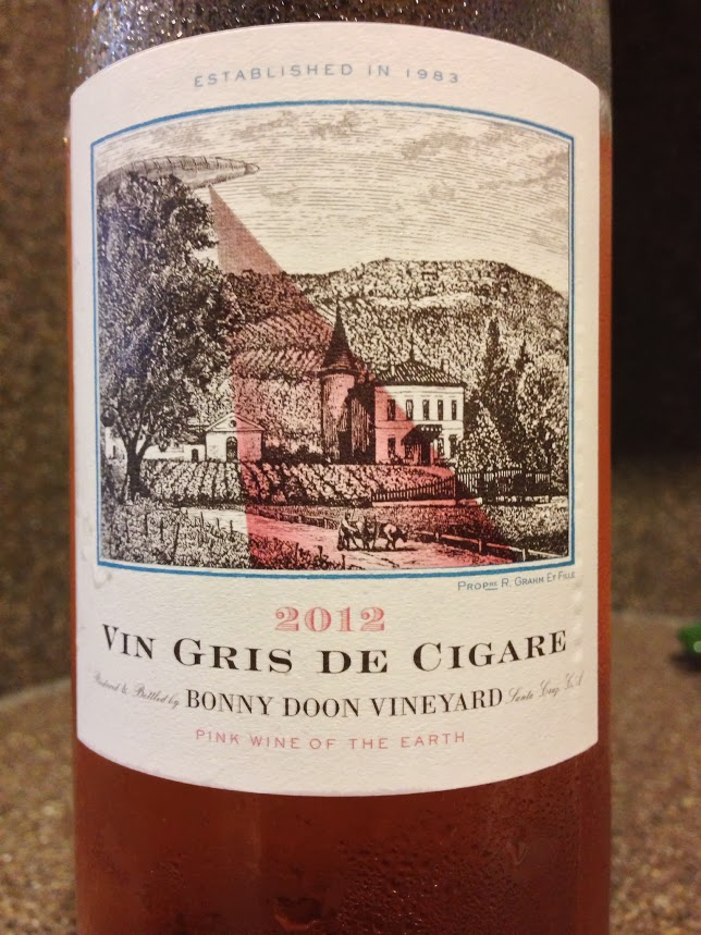 Drink Pink! Rose of the Week; 2012 Bonny Doon Vin Gris de Cigare