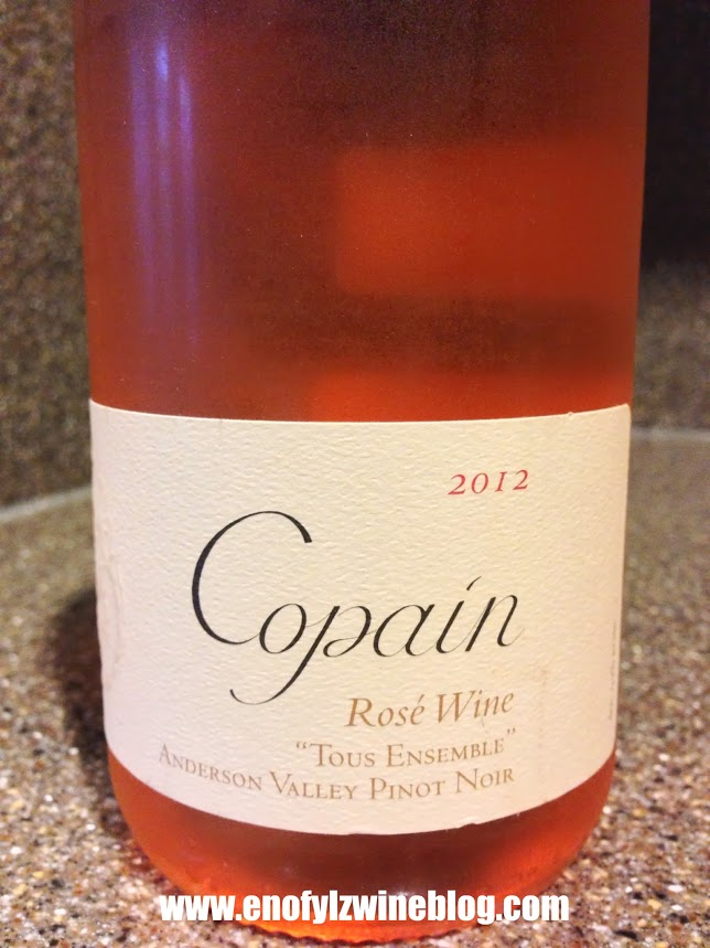 #DrinkPink Rose of the Week; 2012 Copain Tous Ensembe Rose of  Pinot Noir
