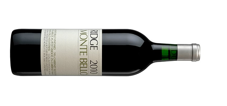 2010 Ridge Monte Bello - image courtesy of Ridge Vineyards