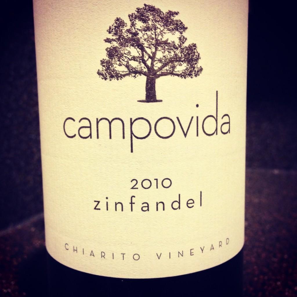 Wine of the Week: 2010 Campovida Zinfandel Chiarito Vineyard