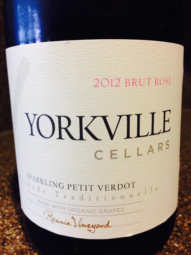 TGIF Bubbly; 2012 Yorkville Cellars Sparkling Petite Verdot Brut Rose