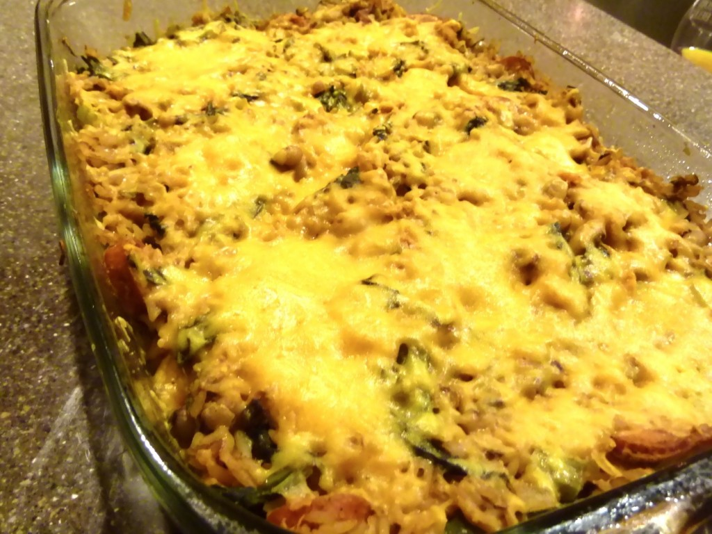 Black-Eyed Pea and Greens Casserole
