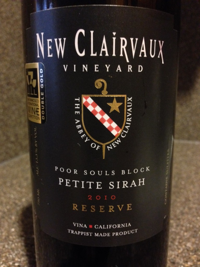Wine of the Week: 2010 New Clairvaux Petite Sirah