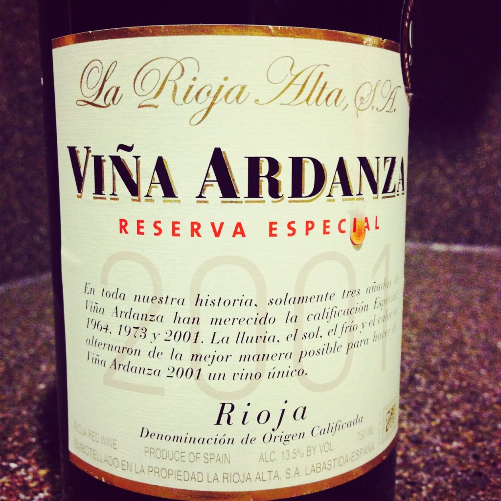 Wine of the Week; 2001 Vina Ardanza
