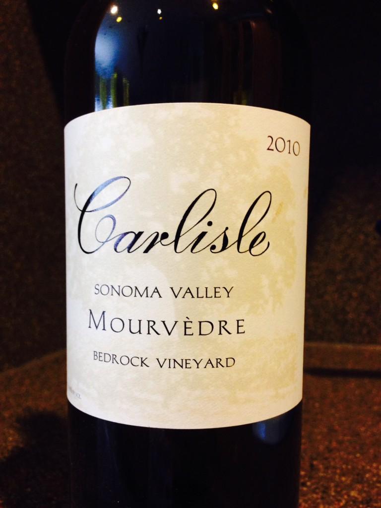 2010 Carlisle Mourvedre Bedrock Vineyard