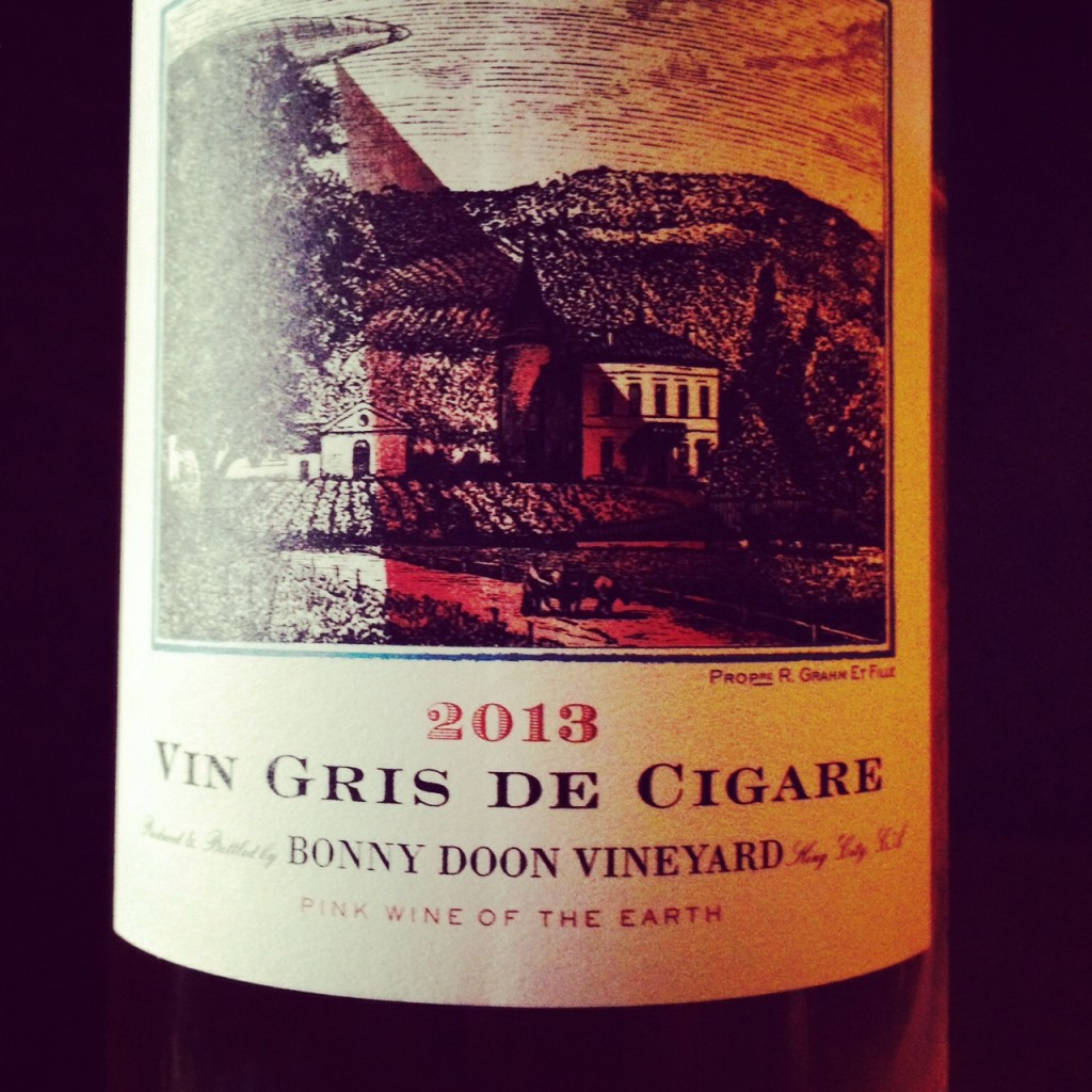 Drink Pink! Rose of the Week; 2013 Bonny Doon Vineyard Vin Gris de Cigare