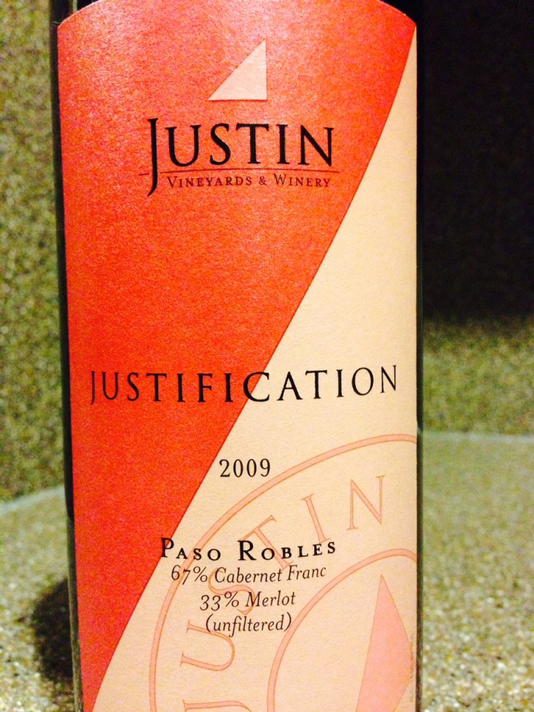 2009 Justin Vineyards & Winery Justification
