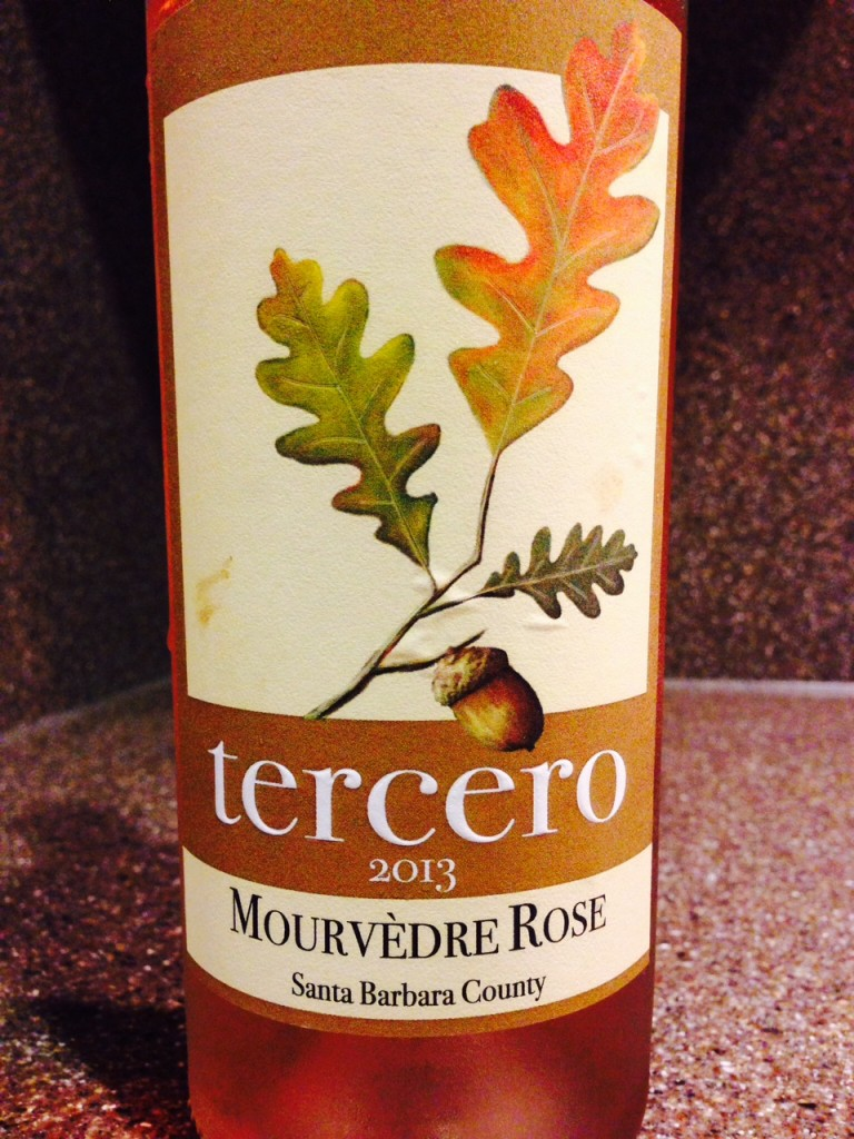 #DrinkPink Rose of the Week; 2013 Tercero Mourvedre Rose