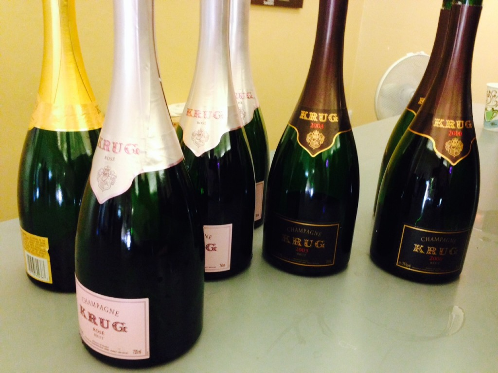 Why yes...I will have some Krug Champagne!