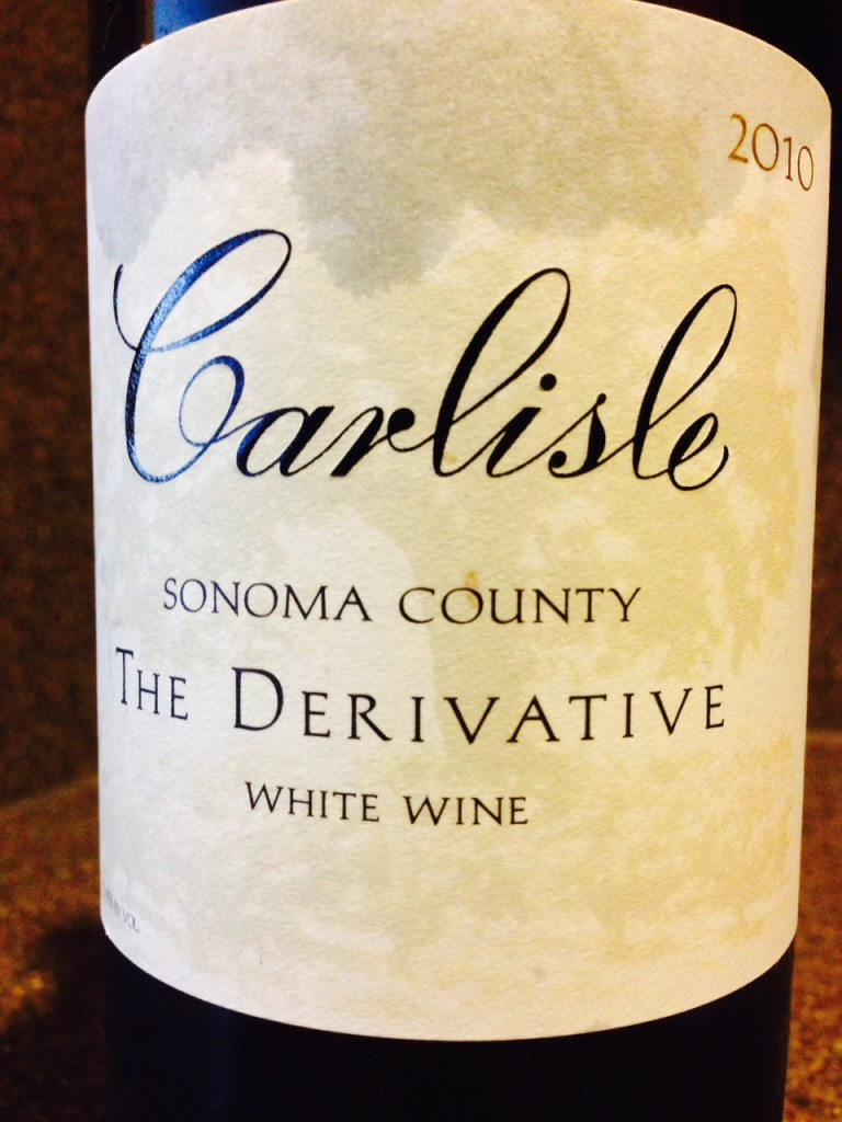 Wine of the Week; 2010 Carlisle Derivative