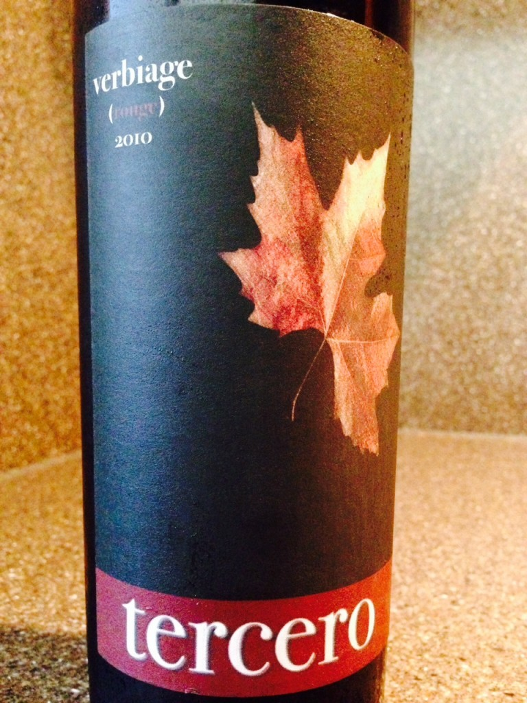 Wine of the Week; 2010 Tercero Verbiage