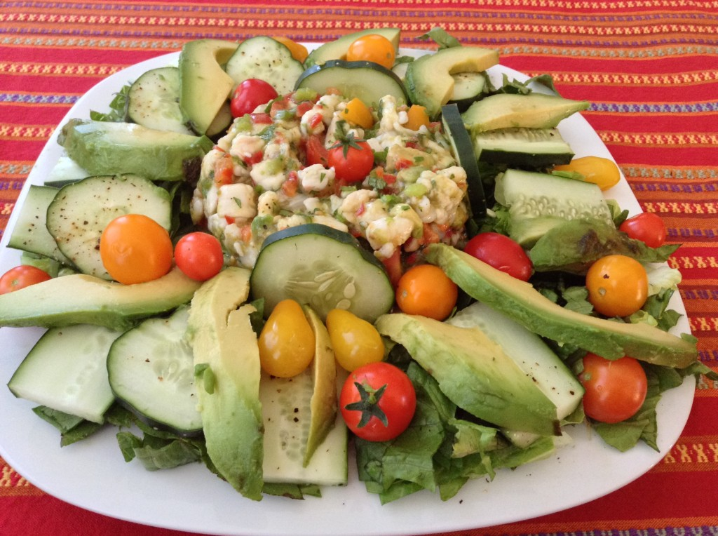 Ceviche with Tomatoes and Avocado