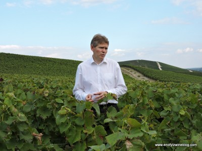 In the vinyeard with Veuve Clicquot Cellar Master  Dominique Demarville