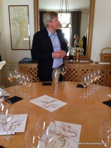 Jean-Baptiste Lécaillon, Chef de Caves lead us through our tasting at Champagne Louis Roederer