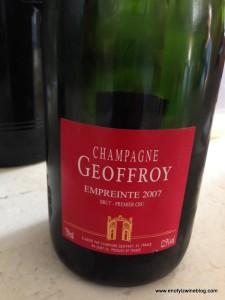 My favorite of the Champagne Geoffroy tasting was the 2007 Empreinte Brut Premier Cru