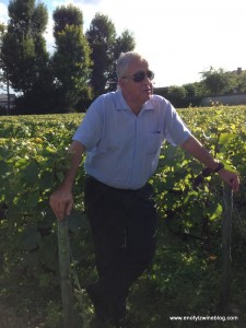 Jean-Hervé Chiquet, CEO and owner of Champagne Jacquesson talking about grape growing...
