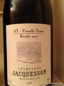"""Jacquesson has an absolutely amazing lineup of """"lieu-dit"""" (single-vineyard) wines! My favorite was the 2004 Ay Vauzelle Terme!"""