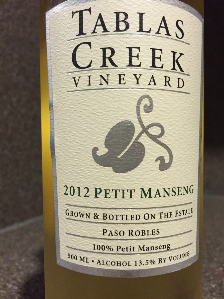Wine of the Week; 2012 Tablas Creek Petit Manseng