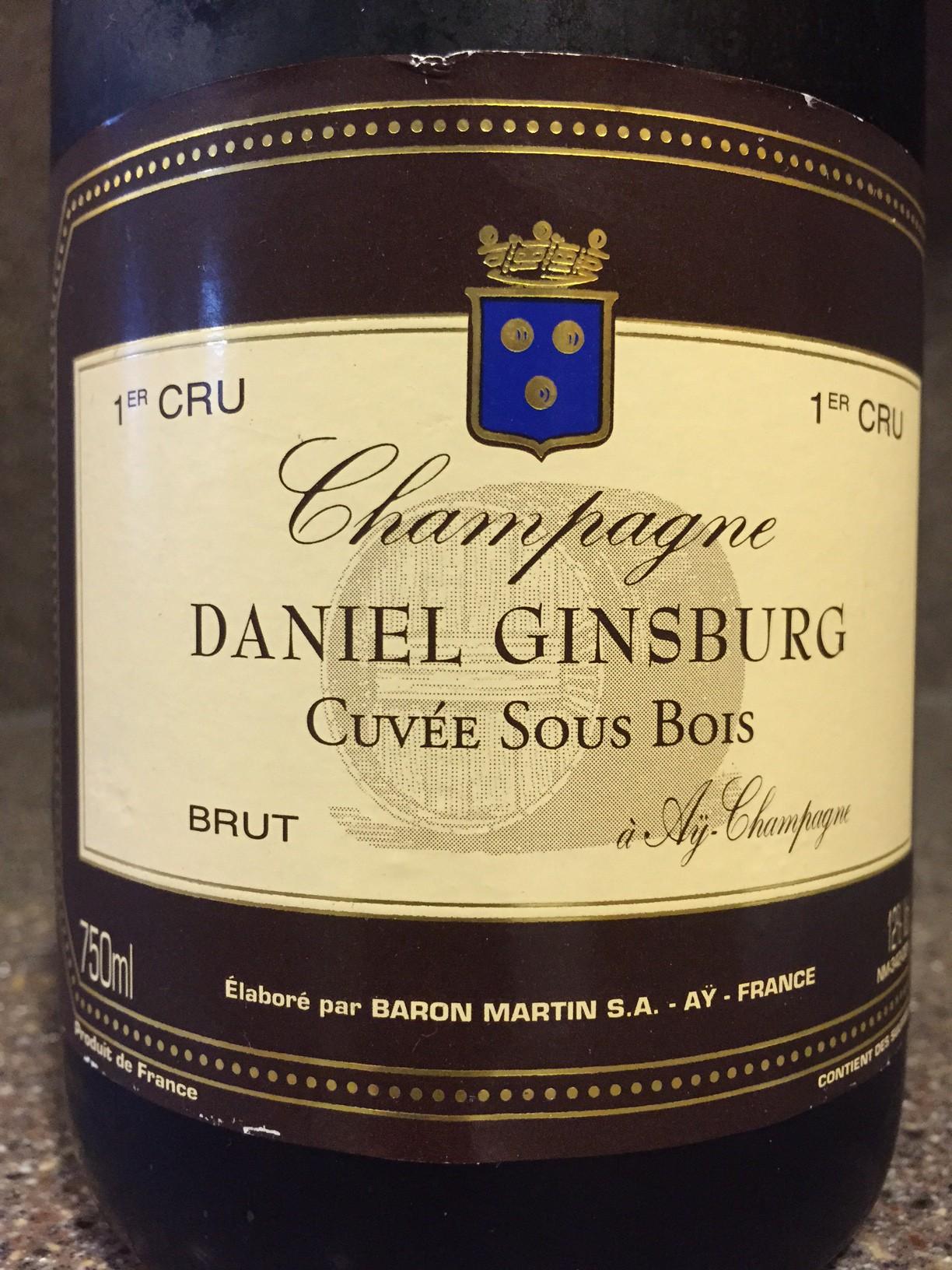 Wine of the week daniel ginsburg champagne grande for Grande table bois brut