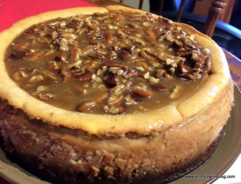 Sweet Potato Bourbon Pecan Cheesecake