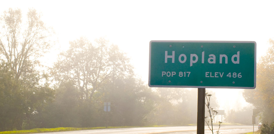 Hopland Sign