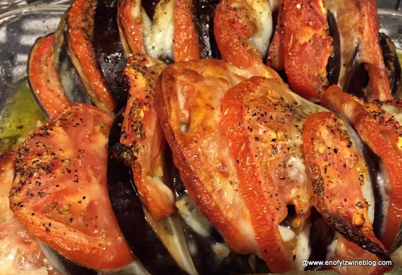 Caprese Stuffed Roasted Eggplant