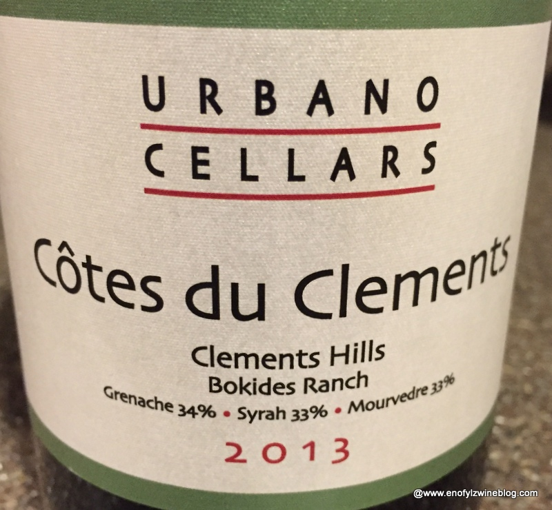 Wine of the Day: 2013 Urbano Cellars Cotes du Clements