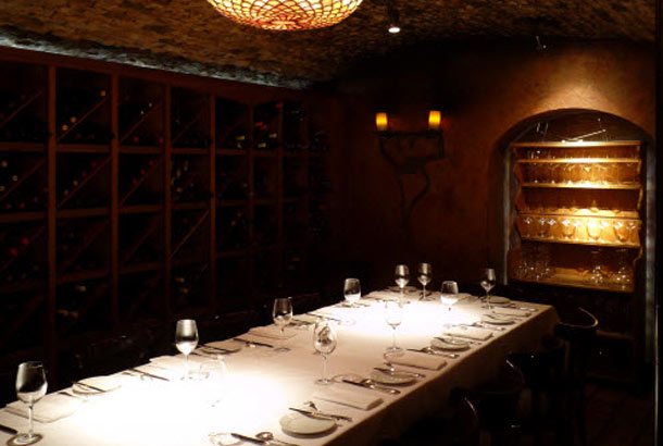 The Wine Vault dining room at Boulevard, San Francisco