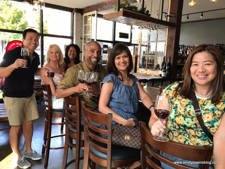 Having a grand ole time at Division Wines. Image courtesy of Danyelle!