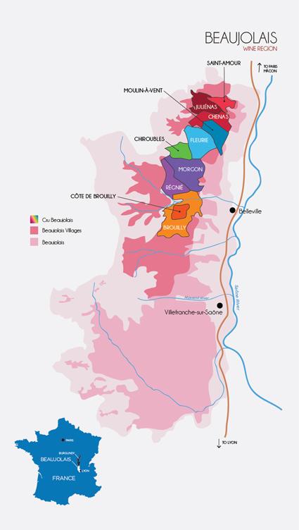 Beaujolais wine region, courtesy of discoverbeaujolais.com
