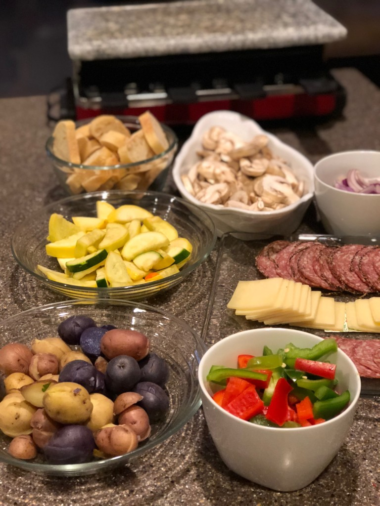 Setting up a raclette for appetizers is a fun and easy!